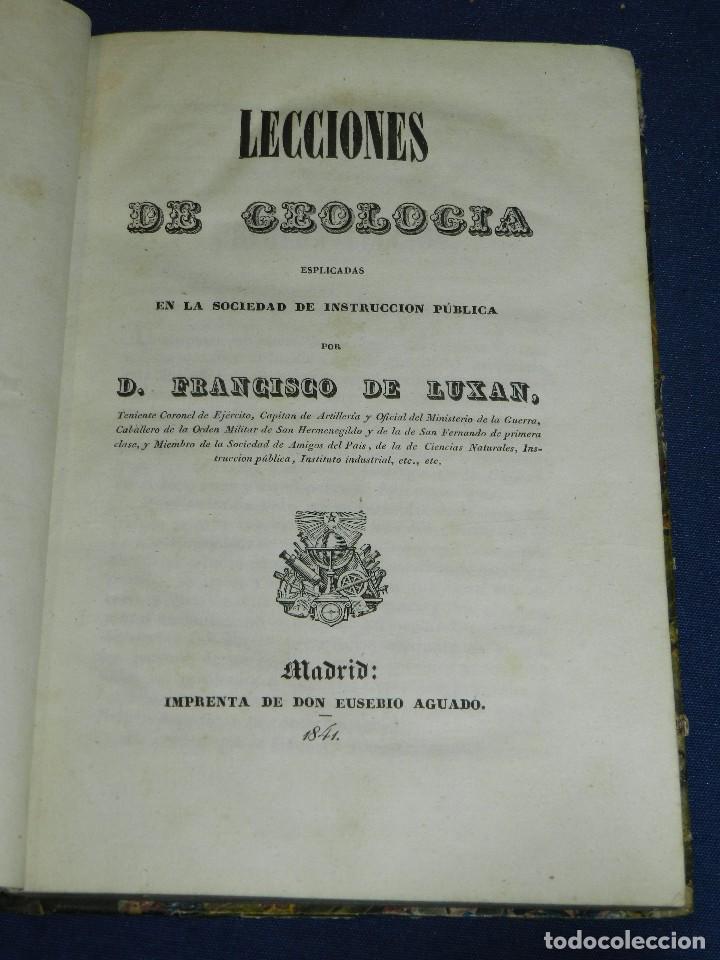 (MF) FRANCISCO DE LUXAN - LECCIONES DE GEOLOGIA , MADRID 1841 IMP. EUSEBIO AGUADO (Libros Antiguos, Raros y Curiosos - Ciencias, Manuales y Oficios - Paleontología y Geología)