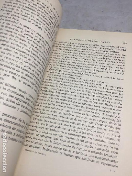 Libros antiguos: Cazadores de Cabezas del Amazonas 1928 7 años exploracion y aventura F W Up de Graff - Foto 4 - 108698319