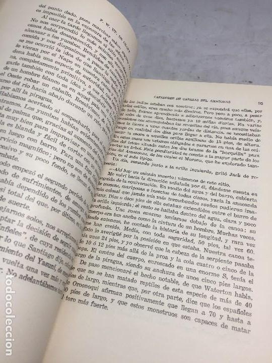 Libros antiguos: Cazadores de Cabezas del Amazonas 1928 7 años exploracion y aventura F W Up de Graff - Foto 6 - 108698319
