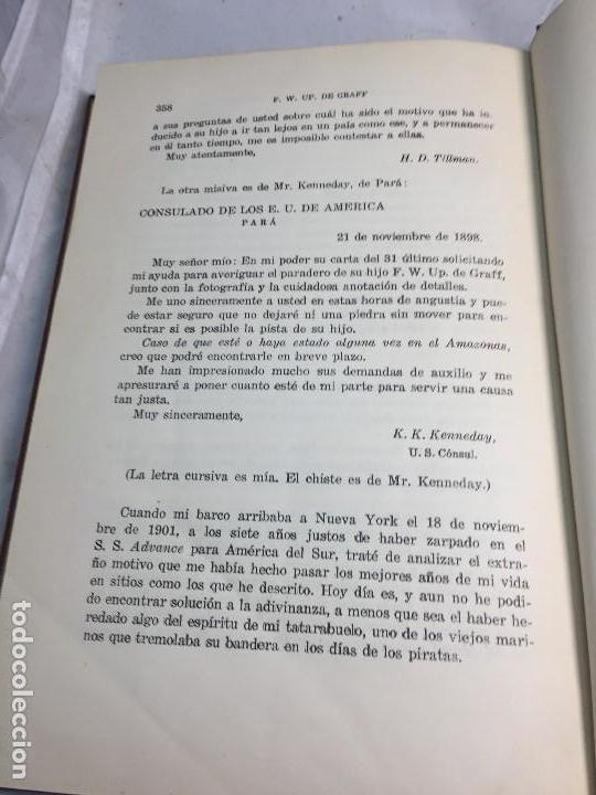 Libros antiguos: Cazadores de Cabezas del Amazonas 1928 7 años exploracion y aventura F W Up de Graff - Foto 9 - 108698319