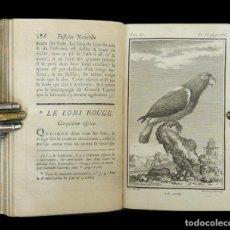 Libros antiguos: 1780 - ORNITOLOGÍA - 14 LÁMINAS DE AVES - LIBRO ILUSTRADO DEL SIGLO XVIII - BUFFON: HISTORIA NATURAL. Lote 108916183