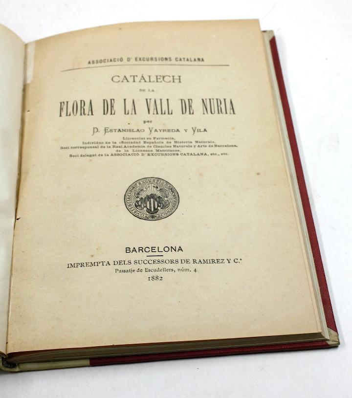 Libros antiguos: Catálech de la flora de la vall de núria, Estanislao Vayreda, CEC, 1882, Barcelona. 15,5x22,5cm - Foto 3 - 108987803