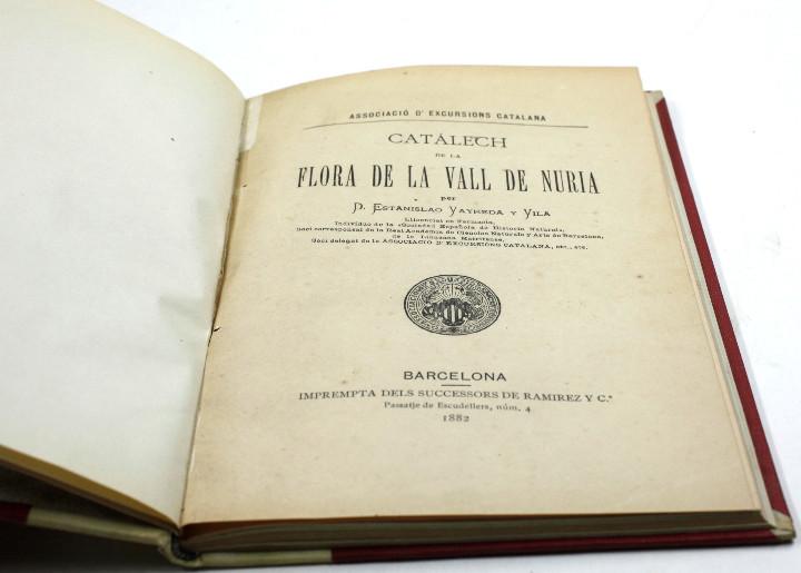 Libros antiguos: Catálech de la flora de la vall de núria, Estanislao Vayreda, CEC, 1882, Barcelona. 15,5x22,5cm - Foto 4 - 108987803