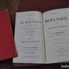 Libros antiguos: ÉLEMENTS DE BOTANIQUE BOTANIQUE GÉNÉRALE PAR P.H. VAN TIEGHEM TOMO I Y II 1891 AFFB. Lote 109018335