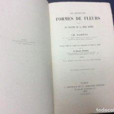 Libros antiguos: EXCELENTE Y RARA 1.ª EDICIÓN FRANCESA DE CHARLES DARWIN, AÑO 1878. Lote 109270835