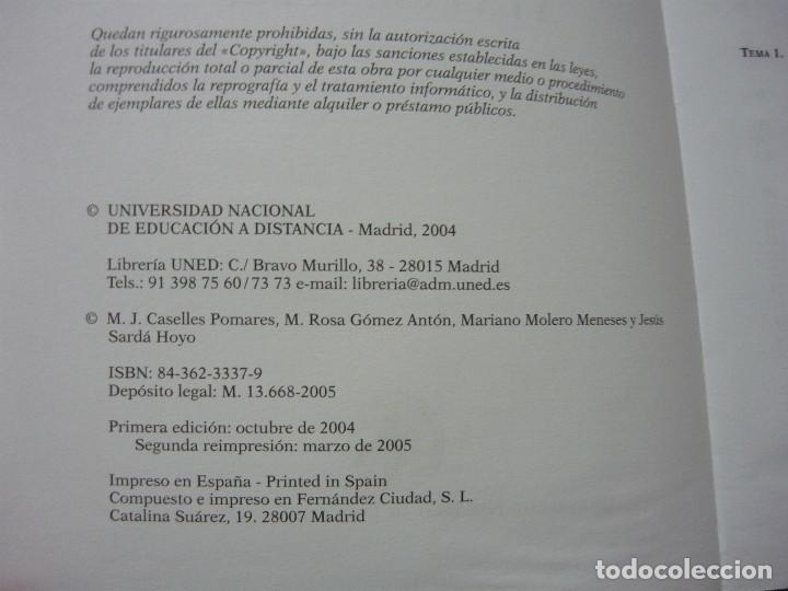 Libros antiguos: QUIMICA APLICADA A LA INGENIERIA. UNED 2004 - MARÍA JOSÉ CASELLES POMARES, MARÍA ROSA GÓMEZ ANTÓN,.. - Foto 3 - 187436102