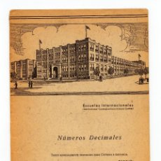 Libros antiguos: NUMEROS DECIMALES ( INTERNATIONAL CORRESPONDENCE SCHOOLS SYSTEM. Lote 109998299