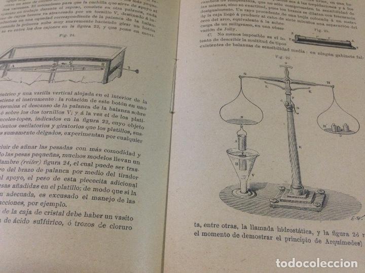 Libros antiguos: COLECCION EJERCICIOS DE FÍSICA MUÑOZ DEL CASTILLO HERNANDO Y CIA MADRID 1901 - Foto 3 - 110272831