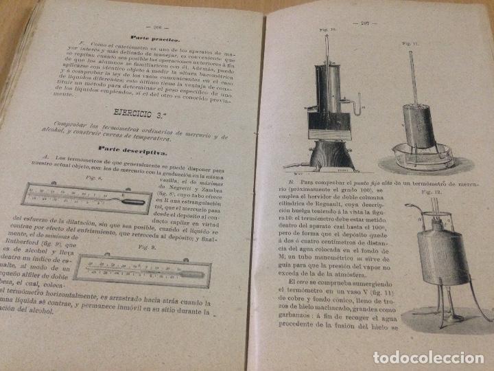 Libros antiguos: COLECCION EJERCICIOS DE FÍSICA MUÑOZ DEL CASTILLO HERNANDO Y CIA MADRID 1901 - Foto 4 - 110272831