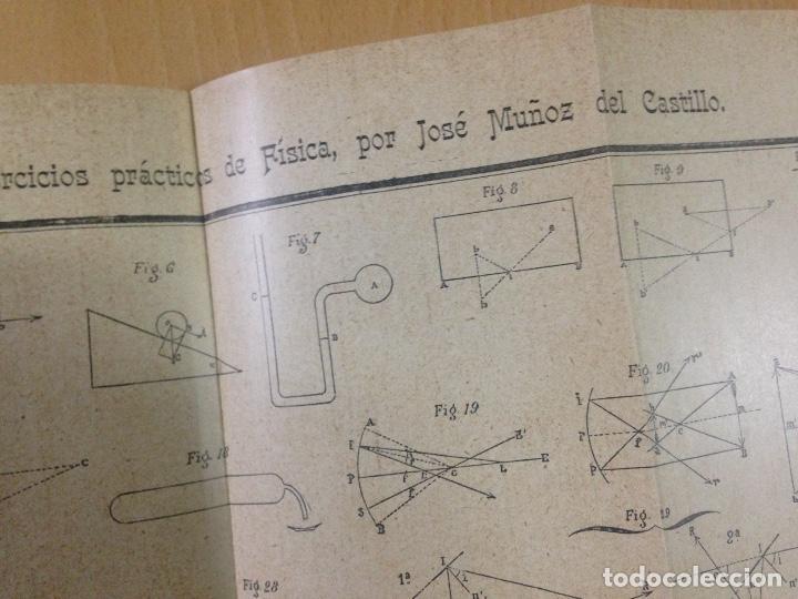 Libros antiguos: COLECCION EJERCICIOS DE FÍSICA MUÑOZ DEL CASTILLO HERNANDO Y CIA MADRID 1901 - Foto 7 - 110272831