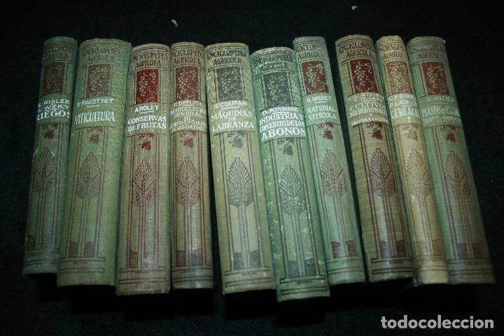 Libros antiguos: Enciclopedia agrícola, 10 tomos siglo XX-conservas,maquinas,viticola...G.Wery - Foto 2 - 110448699