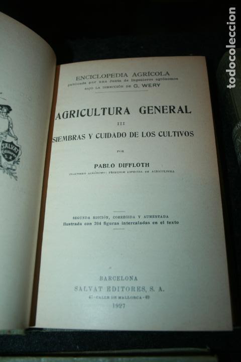 Libros antiguos: Enciclopedia agrícola, 10 tomos siglo XX-conservas,maquinas,viticola...G.Wery - Foto 16 - 110448699