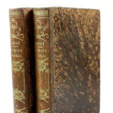 Libros antiguos: CURSO DE QUÍMICA INDUSTRIAL, PEDRO ROQUÉ, 1851, 2 TOMOS, BARCELONA. 18X26,5CM. Lote 110628915