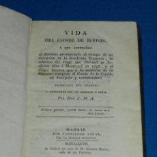 Libros antiguos: (MF) JMA VIDA DEL CONDE DE BUFFON A QUE ACOMPAÑAN EL DISCURSI ACADEMIA FRANCESA MDCCXCVII. Lote 111990531