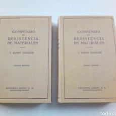 Libros antiguos: RESISTENCIA MATERIALES - I. RUBIO SANJUAN - 2 TOMOS. Lote 112115360