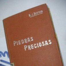 Libros antiguos: ANTIGUO LIBRO PIEDRAS PRECIOSAS. Lote 112156287