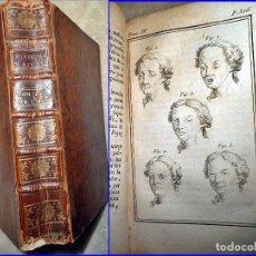Libros antiguos: AÑO 1774: LIBRO DEL SIGLO XVIII CON CURIOSA IMAGEN DE ESTADOS DE ÁNIMO. BUFFÓN. Lote 112473431