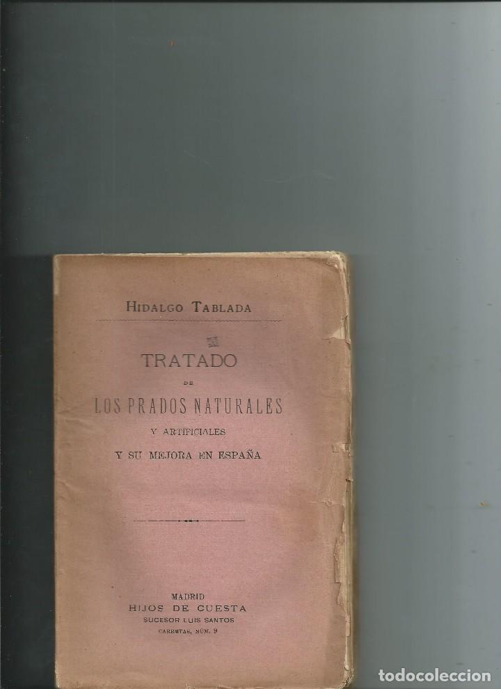 TRATADO DE LOS PRADOS NATURALES Y ARTIFICIALES Y SU MEJORA EN ESPAÑA HIDALGO TABLADA 1872 INTONSO (Libros Antiguos, Raros y Curiosos - Ciencias, Manuales y Oficios - Bilogía y Botánica)