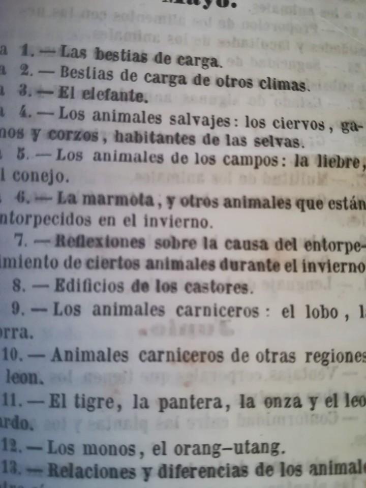 Libros antiguos: ANTIGUO LIBRO,REFLEXIONES SOBRE LA NATURALEZA, AÑO 1852,SIGLO XIX,ELEFANTE,TIGRE,PANTERA,MONO,LEON - Foto 5 - 113010315