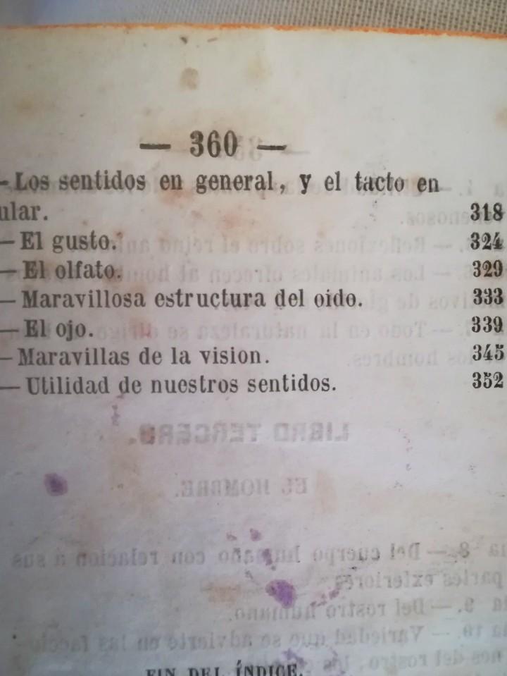Libros antiguos: ANTIGUO LIBRO,REFLEXIONES SOBRE LA NATURALEZA, AÑO 1852,SIGLO XIX,ELEFANTE,TIGRE,PANTERA,MONO,LEON - Foto 7 - 113010315