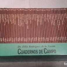 Libros antiguos: CUADERNOS DE CAMPO DEL DR. FELIX RODRIGUEZ DE LA FUENTE COL. COMPLETA. Lote 113133659