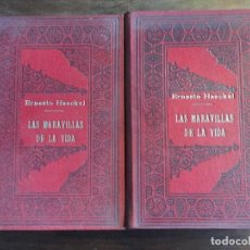 Libros antiguos: LAS MARAVILLAS DE LA VIDA DE ERNESTO HAECKEL. TOMO 1 Y 2. Lote 113184351
