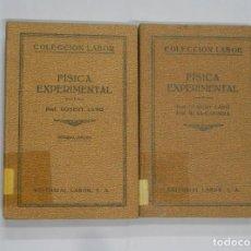 Libros antiguos: FISICA EXPERIMENTAL. ROBERT LANG. COLECCION EDITORIAL LABOR TOMO I Y II. 1932. TDK339. Lote 113320927