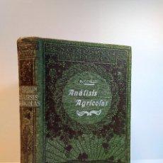 Libros antiguos: ANÁLISIS AGRÍCOLAS. TIERRAS. ABONOS. FORRAJES. PRODUCTOS DE INDUSTRIAS AGRÍCOLAS. GUILLIN, R.. Lote 113362007