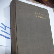 Libros antiguos: ANTIGUO LIBRO - ANALISIS MATEMATICO. Lote 113366711