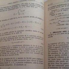Libros antiguos: TERMODINÁMICA PARA QUÍMICOS. 4 EDICIÓN . SAMUEL GLASSTONE. ED AGUILAR.. Lote 113407691