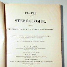 Libros antiguos: LEROY (C.-F.-A.) ET M.E. MARTELET. - TRAITÉ DE STEREOTOMIE. TOME DEUXIÈME - ATLAS - PARÍS 1887 - ILU. Lote 113451543