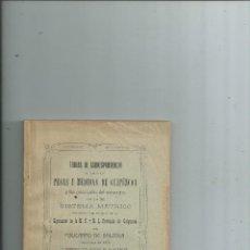 Libros antiguos: TABLAS DE CORRESPONDENCIA DE TODAS LAS PESAS Y MEDIDAS DE GUIPUZCOA POLICARPO DE BALZOLA. Lote 113585471