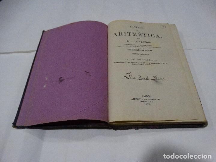 Libros antiguos: ARITMÉTICA -1890- J. CORTAZAR - Foto 2 - 113941199
