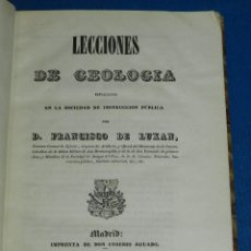 Libros antiguos: (MF) D FRANCISCO DE LUXAN - LECCIONES DE GEOLOGIA ESPLICADAS INSTRUCCION PUBLICA, MADRID 1841. Lote 114433287