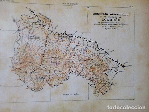 Libros antiguos: DESCRIPCIÓN FÍSICA, GEOLÓGICA Y MINERA DE LA PROVINCIA DE LOGROÑO - Foto 3 - 114683227