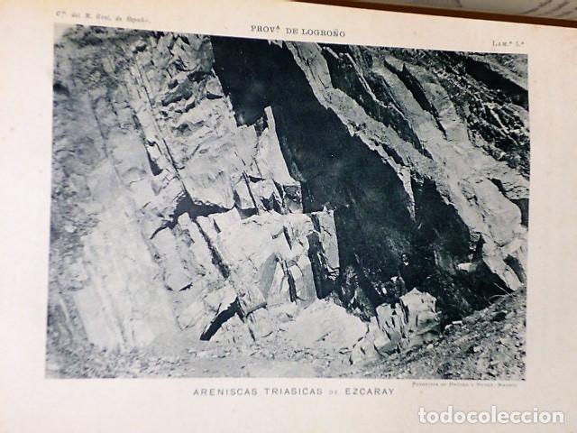 Libros antiguos: DESCRIPCIÓN FÍSICA, GEOLÓGICA Y MINERA DE LA PROVINCIA DE LOGROÑO - Foto 6 - 114683227