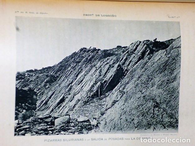 Libros antiguos: DESCRIPCIÓN FÍSICA, GEOLÓGICA Y MINERA DE LA PROVINCIA DE LOGROÑO - Foto 7 - 114683227
