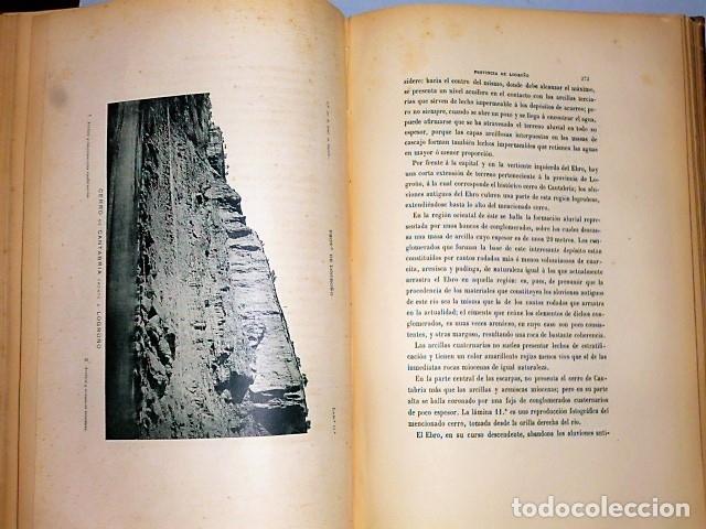 Libros antiguos: DESCRIPCIÓN FÍSICA, GEOLÓGICA Y MINERA DE LA PROVINCIA DE LOGROÑO - Foto 10 - 114683227