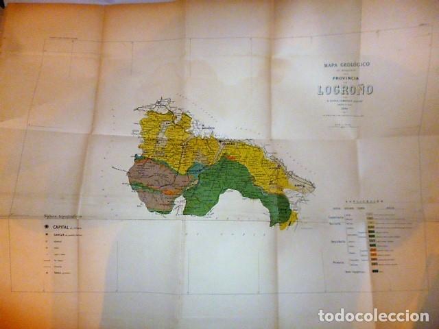 Libros antiguos: DESCRIPCIÓN FÍSICA, GEOLÓGICA Y MINERA DE LA PROVINCIA DE LOGROÑO - Foto 11 - 114683227