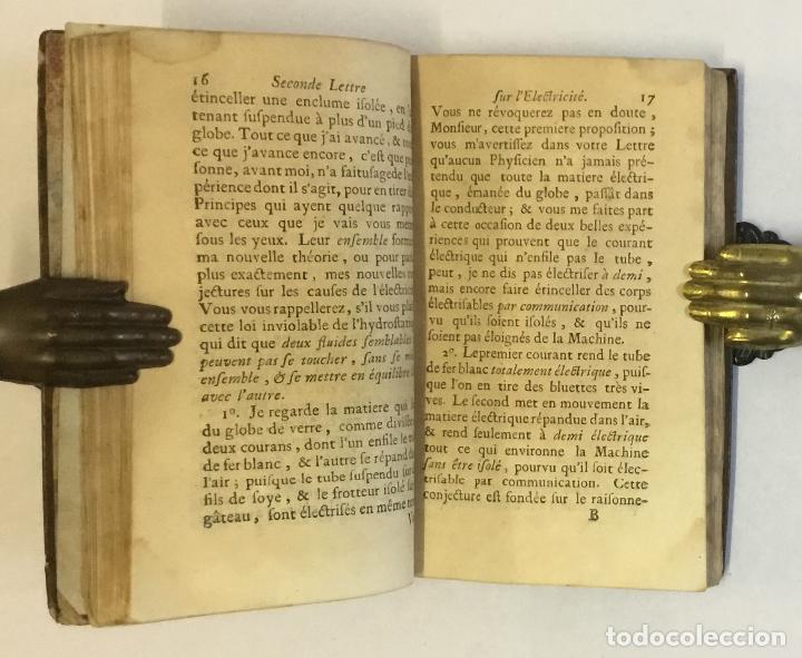 Libros antiguos: L'ELECTRICITÉ SOUMISE A UN NOUVEL EXAMEN... [PAULIAN, Aimé Henri.] 1768. ELECTRICIDAD. - Foto 5 - 114799628