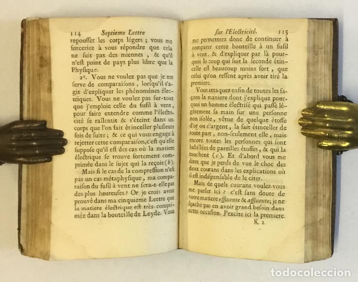 Libros antiguos: L'ELECTRICITÉ SOUMISE A UN NOUVEL EXAMEN... [PAULIAN, Aimé Henri.] 1768. ELECTRICIDAD. - Foto 7 - 114799628