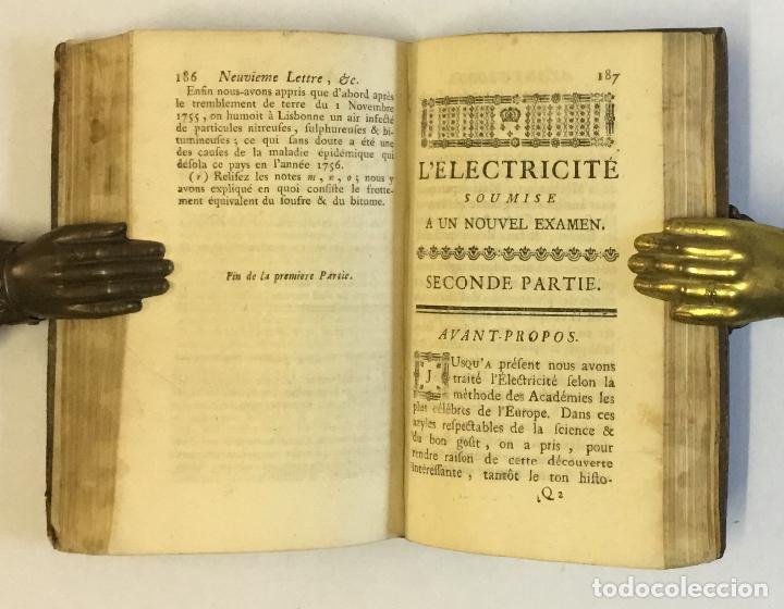 Libros antiguos: L'ELECTRICITÉ SOUMISE A UN NOUVEL EXAMEN... [PAULIAN, Aimé Henri.] 1768. ELECTRICIDAD. - Foto 8 - 114799628