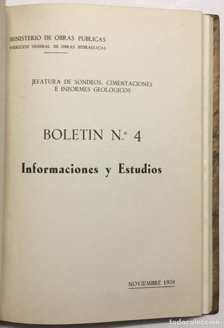 Libros antiguos: JEFATURA DE SONDEOS, CIMENTACIONES E INFORMES GEOLOGICOS. BOLETIN Nº 1. Informaciones y estudios. - - Foto 7 - 114799680