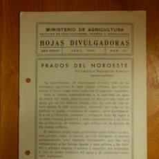 Libros antiguos: HOJAS DIVULGADORAS MINISTERIO AGRICULTURA - 1946 Nº 1 AÑO XXXVIII - PRADOS DEL NOROESTE. Lote 115093971