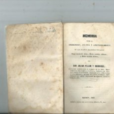 Libros antiguos: DESCRIPCIÓN CULTIVO Y APROVECHAMIENTO DE LAS PLANTAS SACARINAS JULIÁN PELLÓN Y RODRÍGUEZ 1858. Lote 115221291