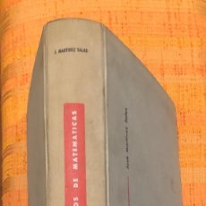 Libros antiguos: ELEMENTOS DE MATEMATICAS JOSEMARTINEZSALAS(30€). Lote 115592023