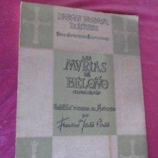Libros antiguos: LAS MURIAS DE BELOÑO CENERO, GIJON UNA VILLA ROMANA EN ASTURIAS 1957. Lote 115683939