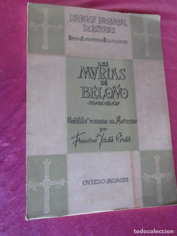 Libros antiguos: LAS MURIAS DE BELOÑO CENERO, GIJON UNA VILLA ROMANA EN ASTURIAS 1957 - Foto 2 - 115683939