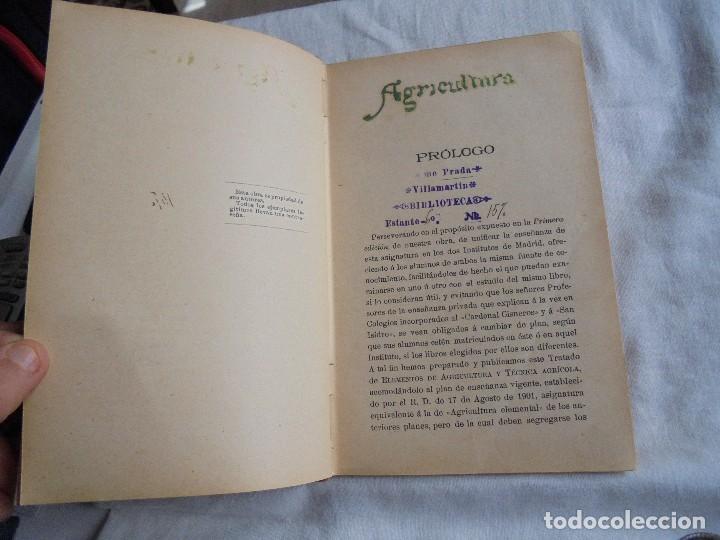 Libros antiguos: ELEMENTOS DE AGRICULTURA Y TECNICA AGRICOLA E INDUSTRIAL.-1ª PARTE.MADRID 1908 - Foto 5 - 115754051