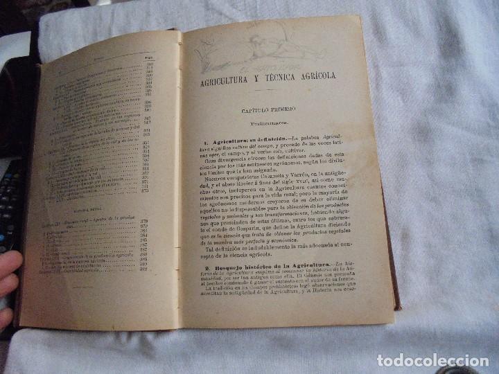 Libros antiguos: ELEMENTOS DE AGRICULTURA Y TECNICA AGRICOLA E INDUSTRIAL.-1ª PARTE.MADRID 1908 - Foto 13 - 115754051